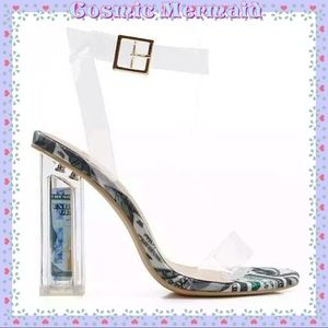 Shoes - 🆕💸Clear 'Show Me The Money Honey' Lucite Heel💸